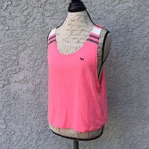 Victoria's Secret hot pink sports muscle tee shirt